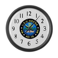 USS Sierra (AD 18) Large Wall Clock