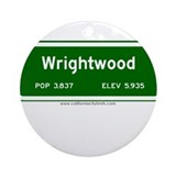 Wrightwood Ornament (Round)