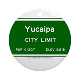 Yucaipa Ornament (Round)