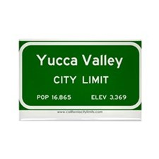 Yucca Valley Rectangle Magnet