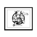 Hockey Rat Framed Panel Print