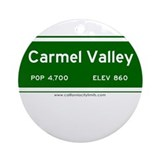 Carmel Valley Ornament (Round)