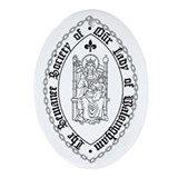 Sewanee Walsingham Seal Christmas Ornament (Oval)