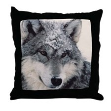 """Wolf Close Up"" Throw Pillow"