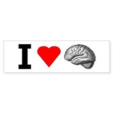 I Love Brain Bumper Bumper Sticker