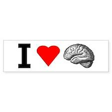 I Love Brain Bumper Car Sticker