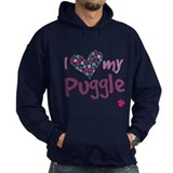 Cute Pug print Hoodie
