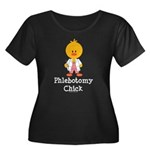 Phlebotomy Chick Women's Plus Size Scoop Neck Dark