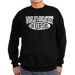 World's Greatest Nurse Sweatshirt (dark)