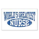 World's Greatest Nurse Rectangle Sticker