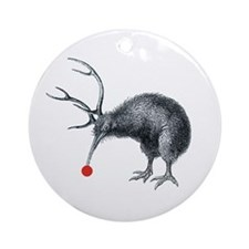 Santas Little Helper Kiwi Ornament (Round)