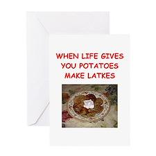 potato pancakes Greeting Card