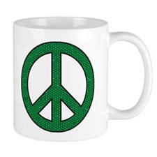 Green Peace Sign Mug
