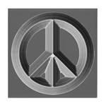 Silver Peace Sign Tile Coaster