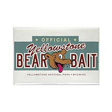 Yellowstone Bear Bait Rectangle Magnet