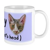 Heart my Cat's Head Mug blue