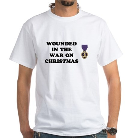 War On Christmas Wounded White T-Shirt