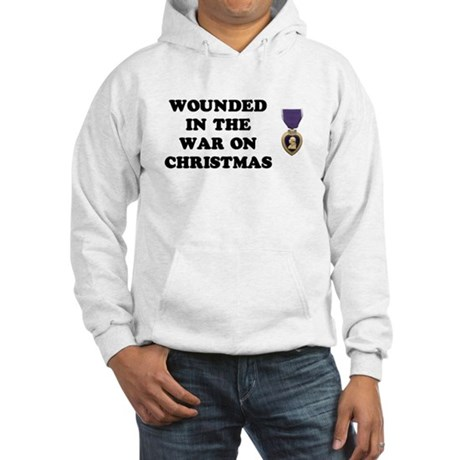 War On Christmas Wounded Hooded Sweatshirt