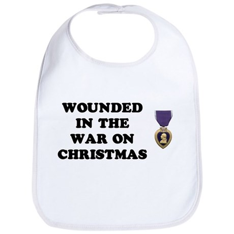 War On Christmas Wounded Bib
