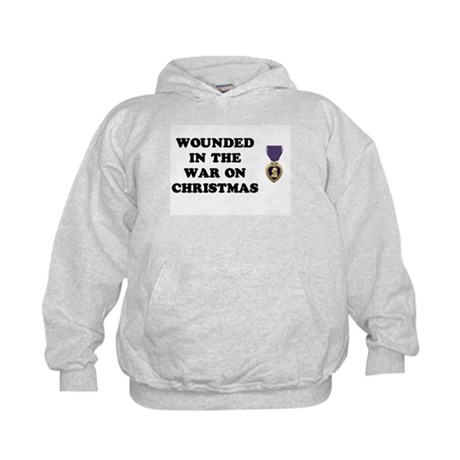 War On Christmas Wounded Kids Hoodie