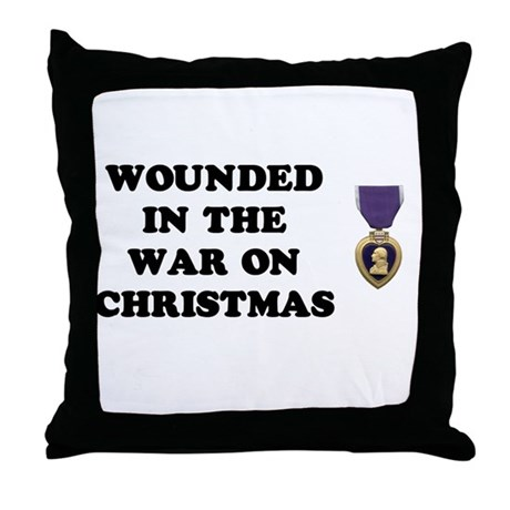 War On Christmas Wounded Throw Pillow