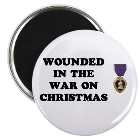 War On Christmas Wounded Magnet