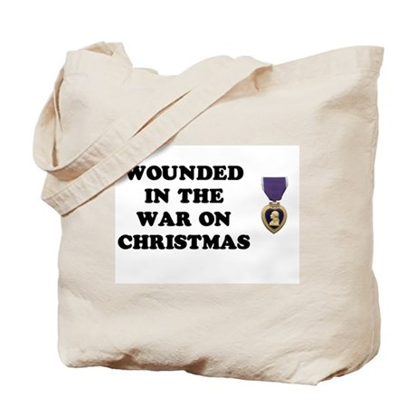 War On Christmas Wounded Tote Bag