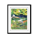 Riccoboni Koi Pond Framed Panel Print