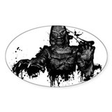 Graffiti'd Pop Culture Oval Decal
