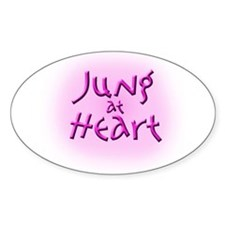 Jung at Heart pink Oval Decal