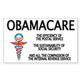OBAMACARE II Rectangle  Aufkleber