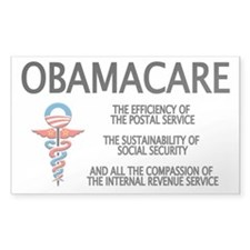 OBAMACARE II Rectangle Decal