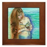Mermaid's Keepsake Framed Tile