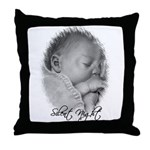 Silent Night Baby Throw Pillow