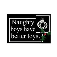 Naughty Boys Rectangle Magnet