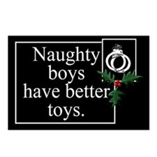 Naughty Boys Postcards (Package of 8)