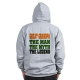 Great Grandpa - The Legend Zip Hoodie