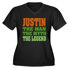 JUSTIN - The Legend Women's Plus Size V-Neck Dark