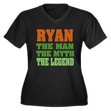 RYAN - the legend! Women's Plus Size V-Neck Dark T