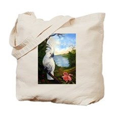 Cockatoo and Orchid Tote Bag