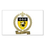 CAILLOUET Family Crest Rectangle Sticker 50 pk)