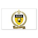 CAILLOUET Family Crest Rectangle Sticker 10 pk)