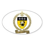 CAILLOUET Family Crest Oval Sticker (10 pk)