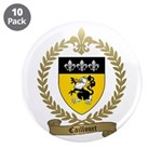 """CAILLOUET Family Crest 3.5"""" Button (10 pack)"""