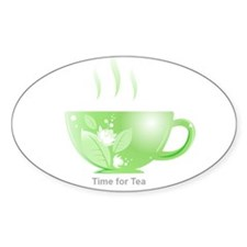 Time for Tea Oval Sticker (10 pk)