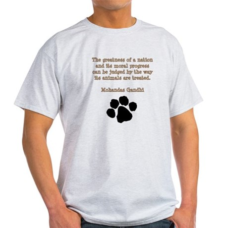 Gandhi Animal Quote Light T-Shirt