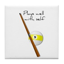 Plays Well, Sarastic Funny Tile Coaster