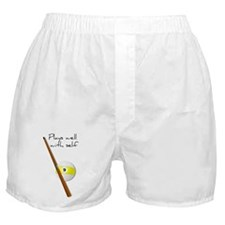 Plays Well, Sarastic Funny Boxer Shorts