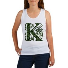 Ivy Leaf Monogram K Women's Tank Top