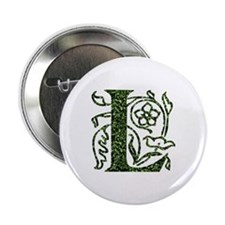 "Ivy Leaf Monogram L 2.25"" Button"